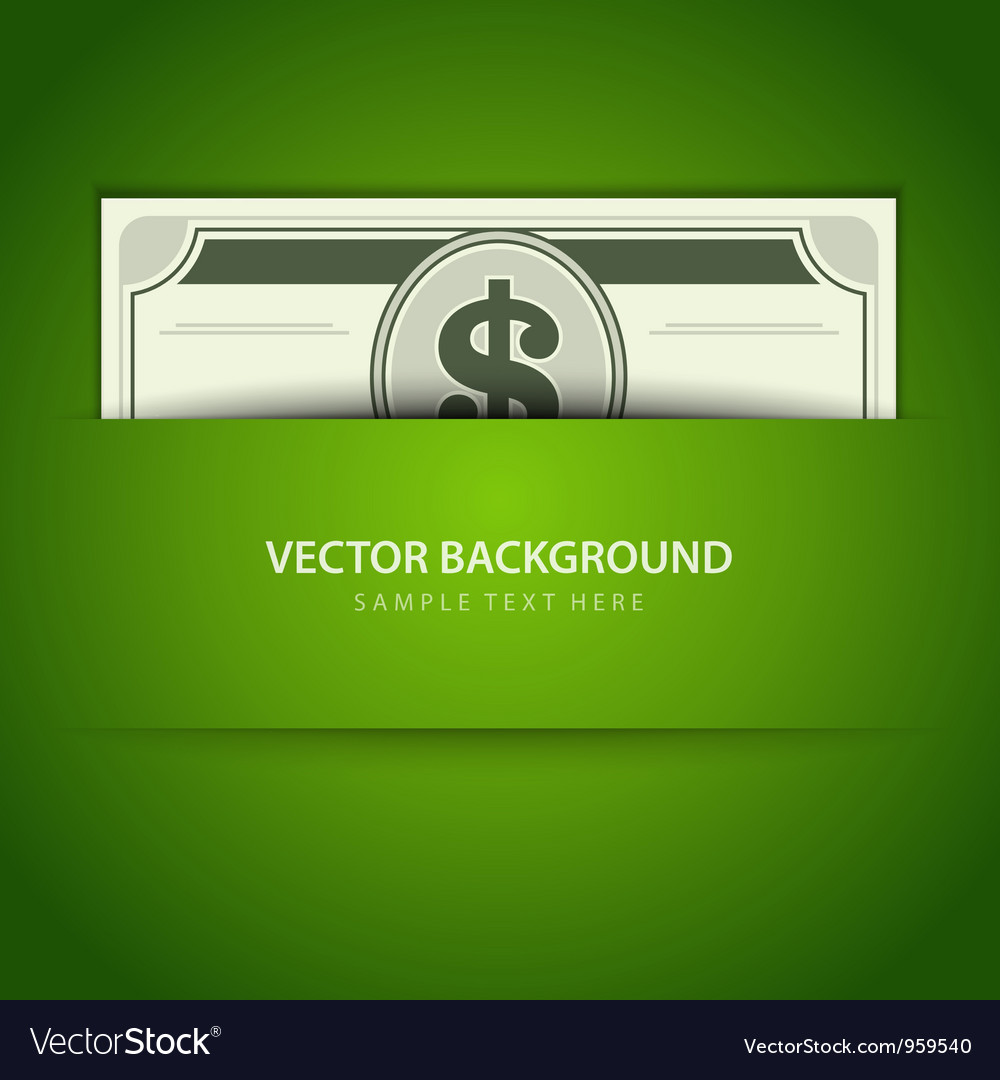 Dollars money vector image