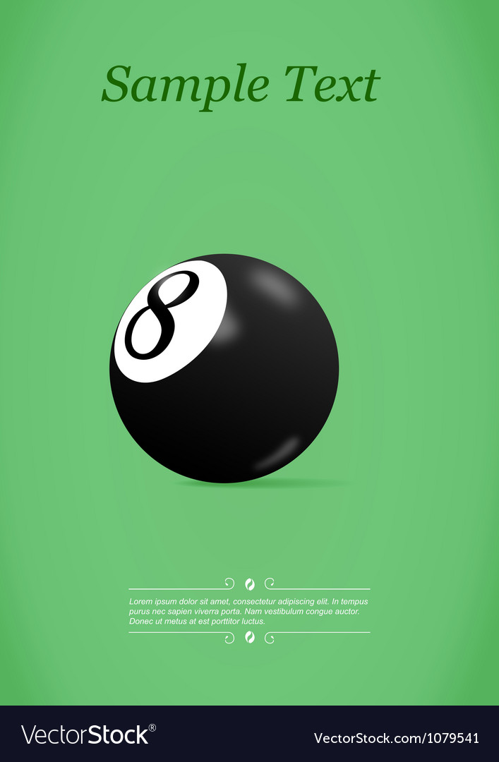 Pool ball vector image