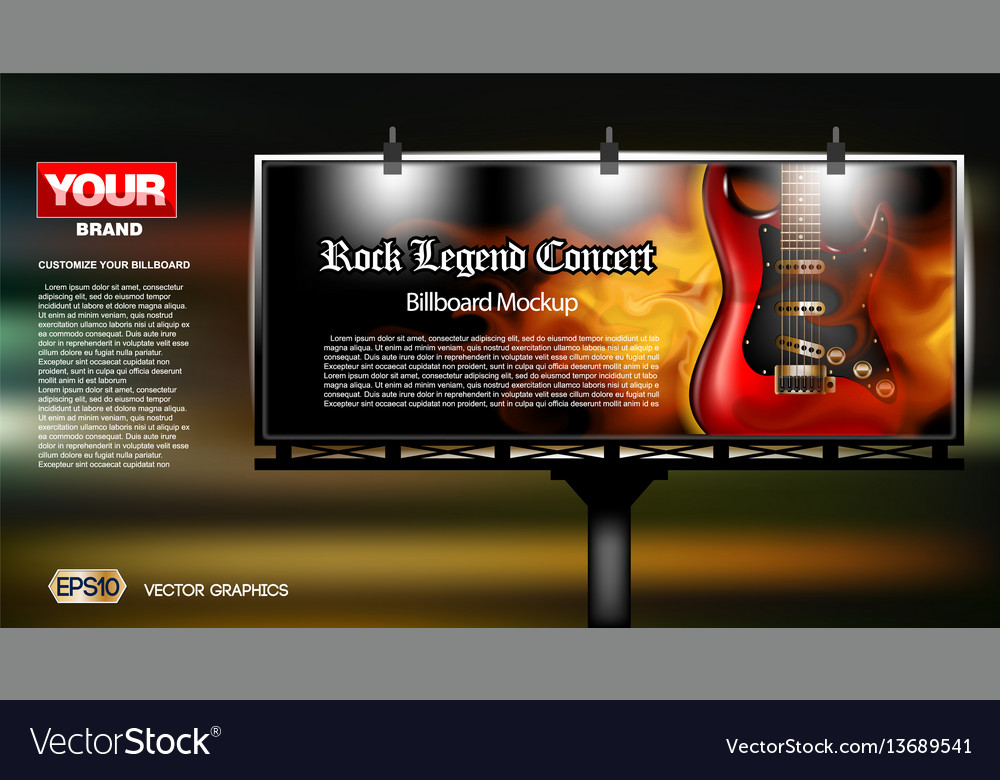 Digital rock legend concert vector image