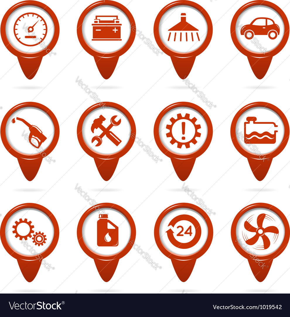 Mechanic and service pointers vector image