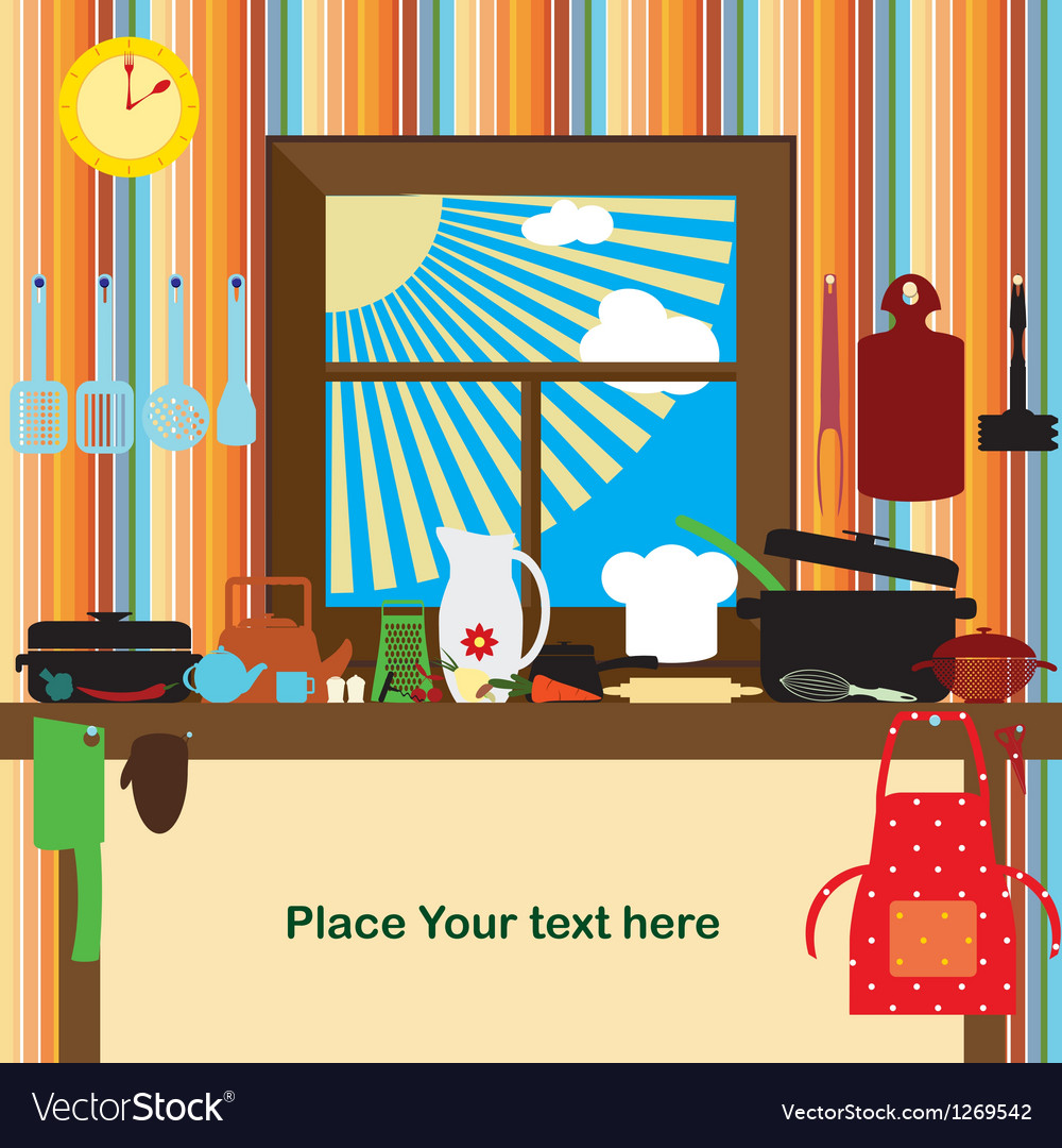 Cookery card vector image