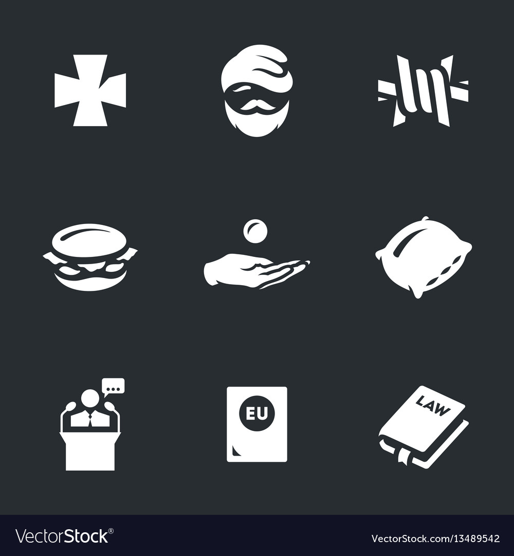 Set of refugee icons vector image