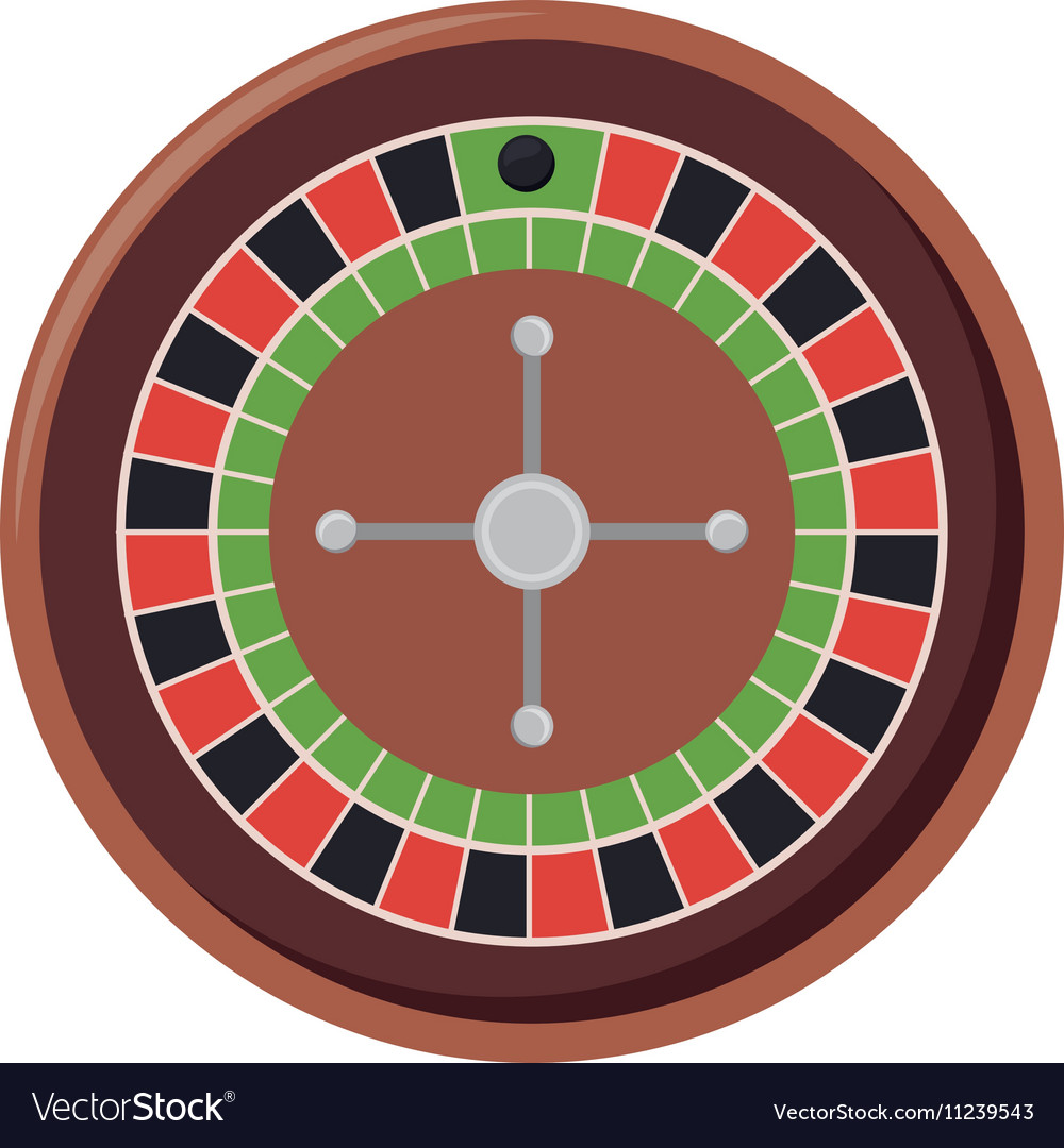 Roulette casino machine vector image