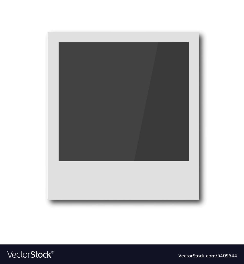 Polaroid retro photo frame vector image