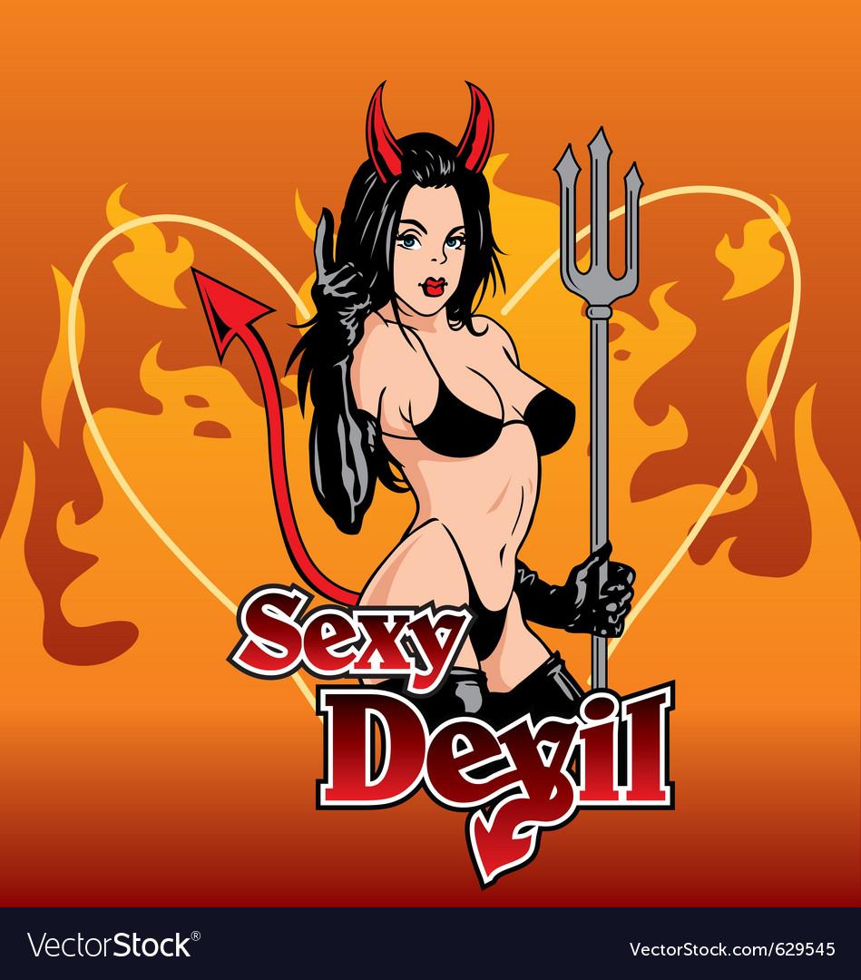Sexy devil vector image