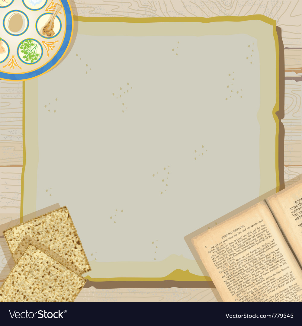 Passover seder meal vector image