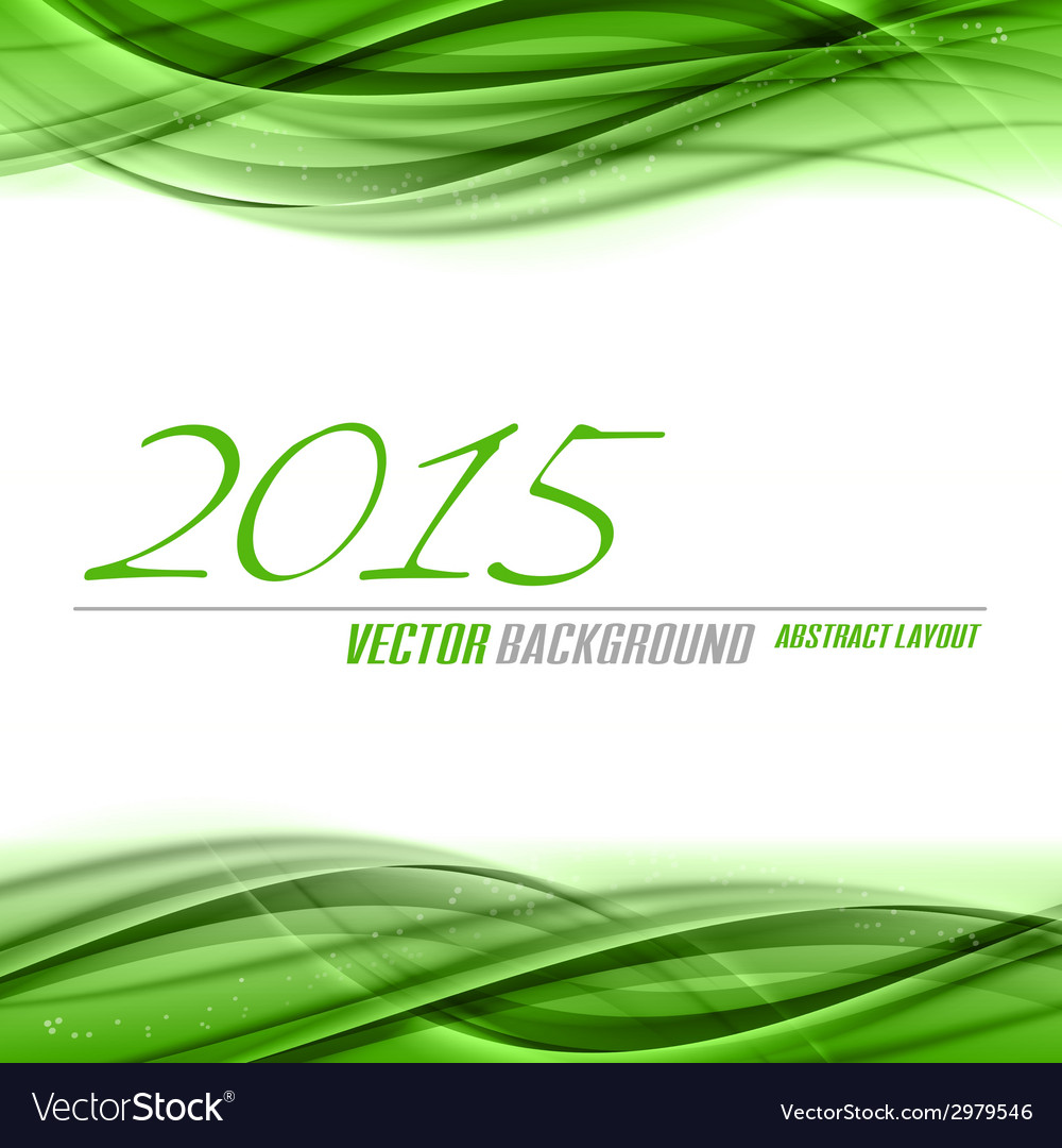 2015 wave green vector image