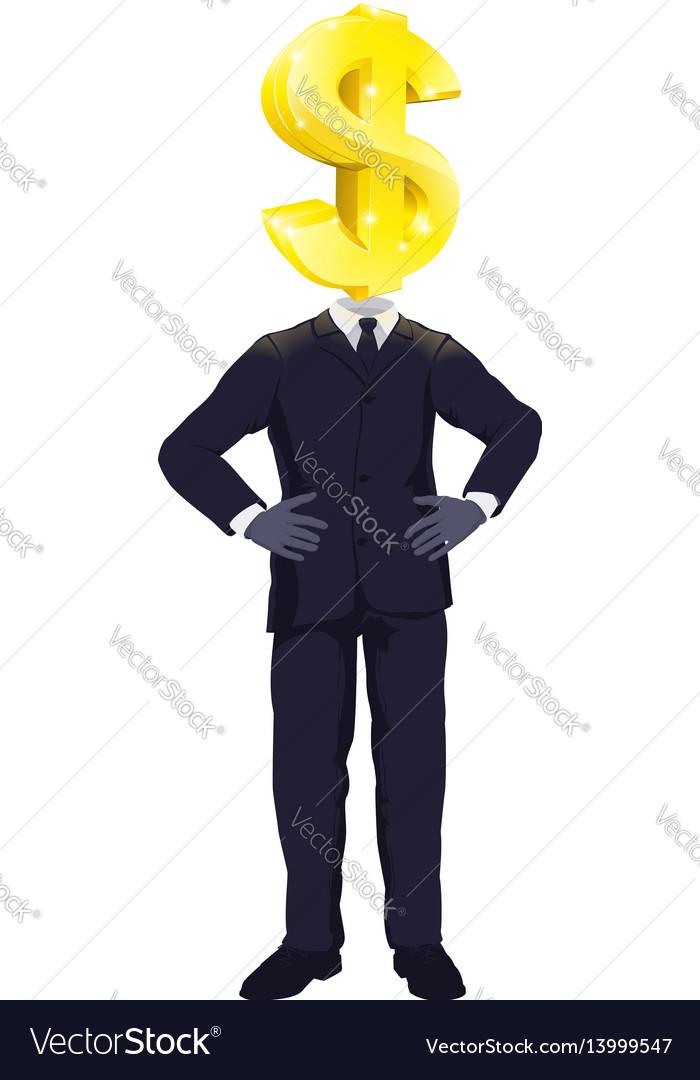 Money man concept vector image