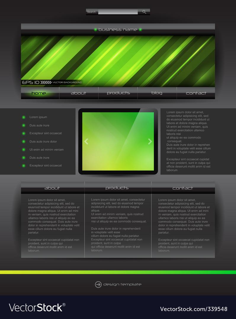 Vector website design template vector image