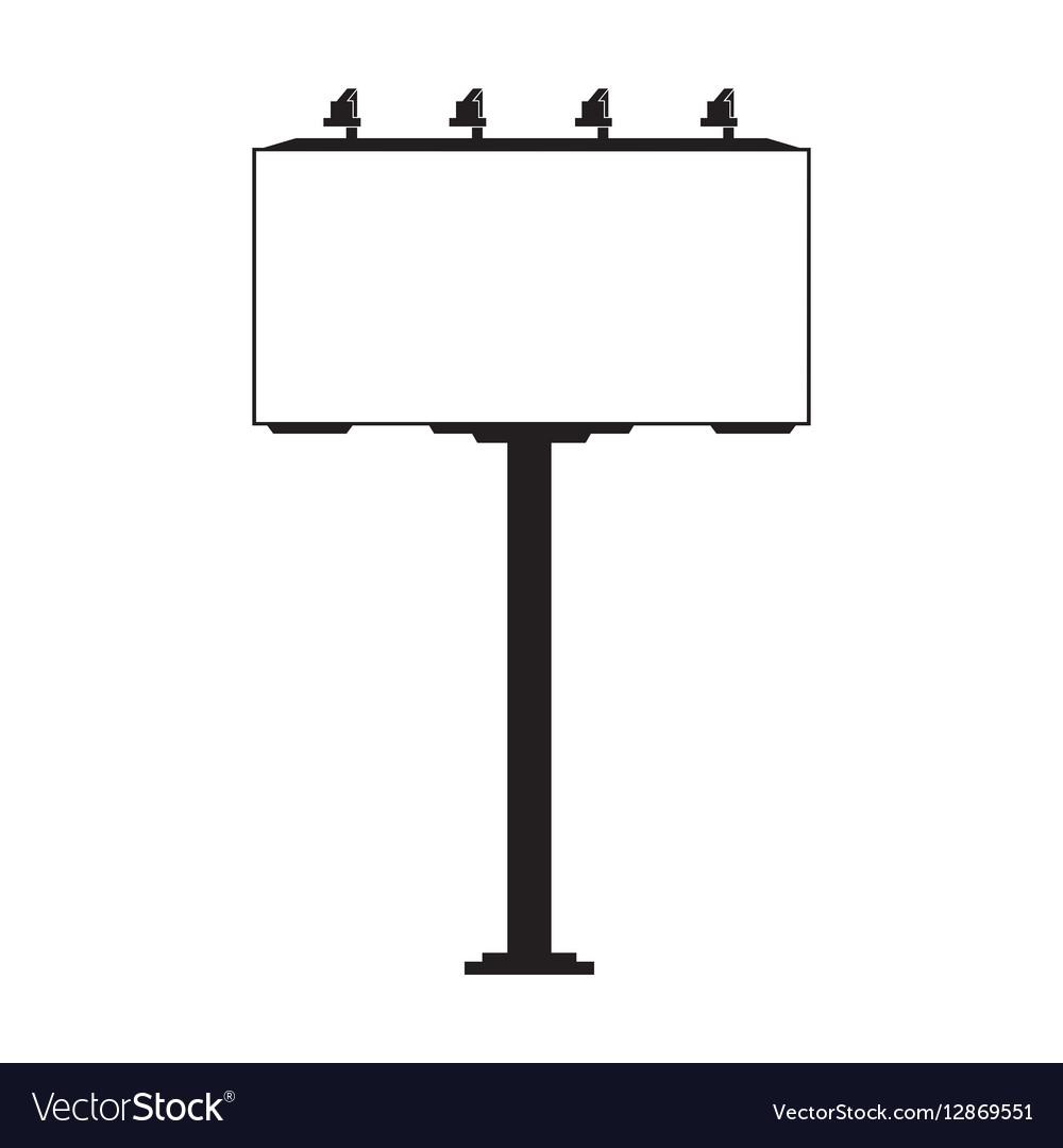 Advertising billboard icon vector image