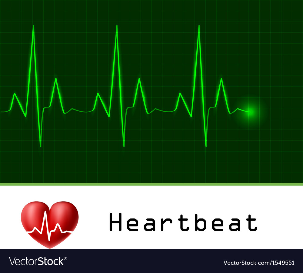 Heart beat text frame vector image