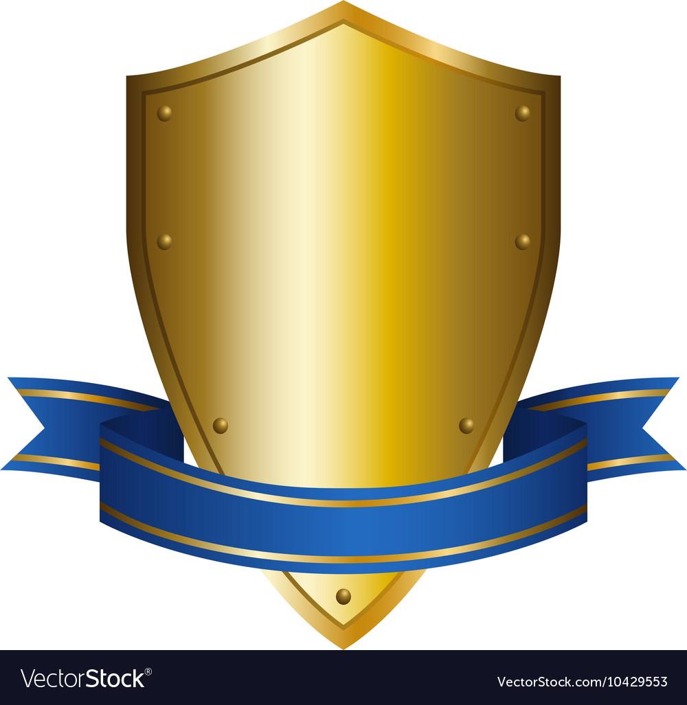 A shield emblem vector image