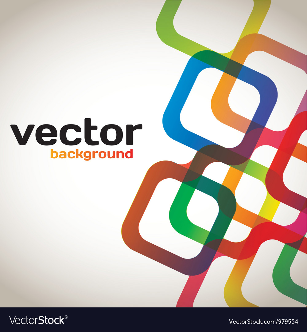 Colorful Abstract Squares vector image