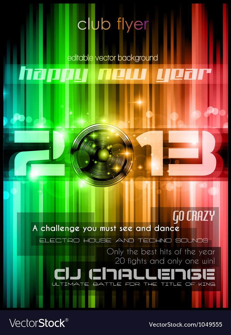 2013 New Year Celebration Background vector image