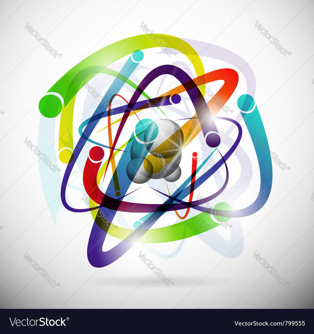 Abstract atom background vector image
