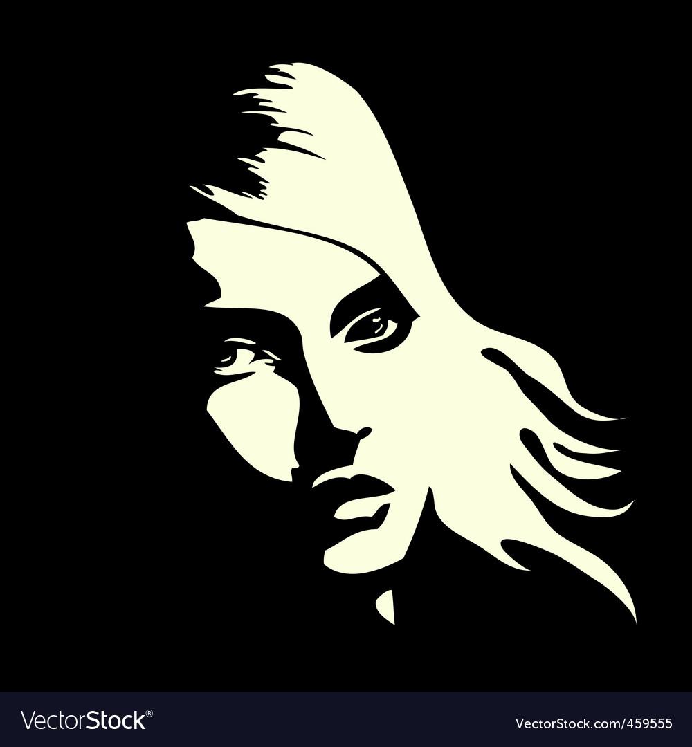 Woman's portrait vector image