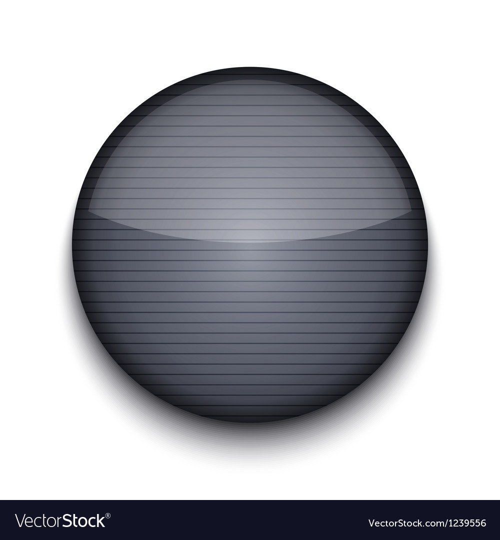 Circle metal icon vector image