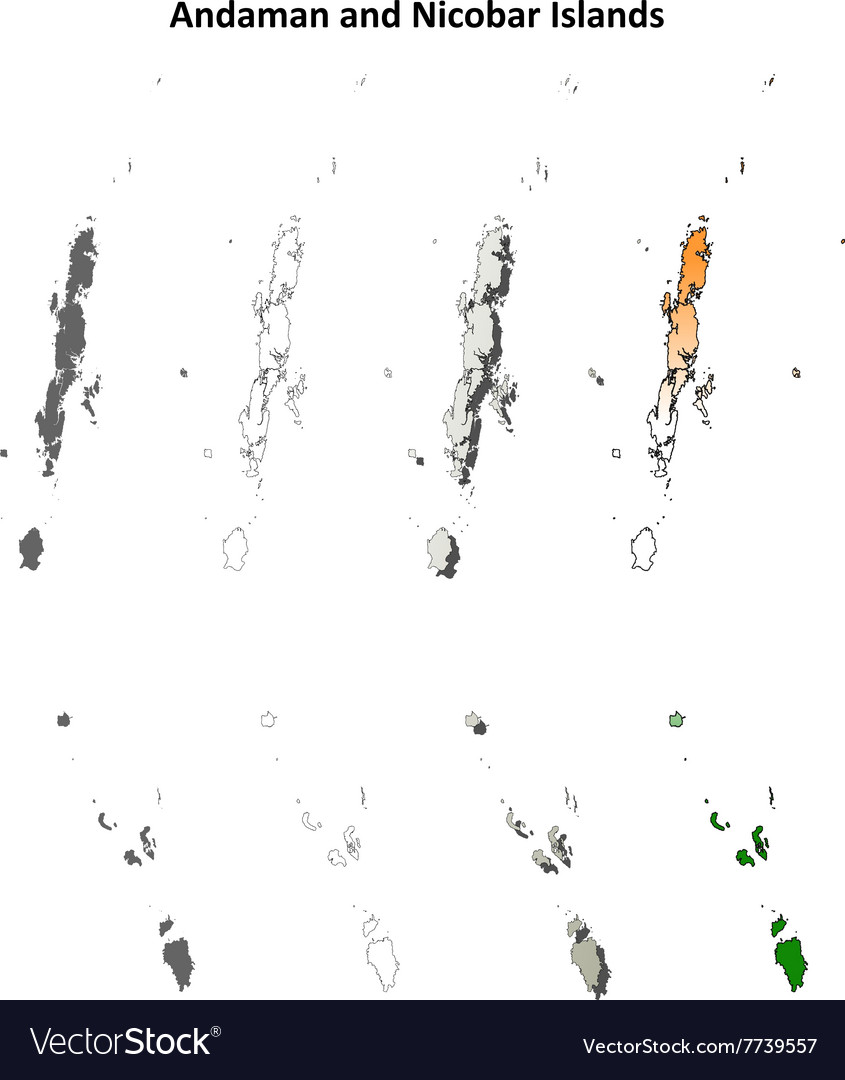 Blank Outline Map Of Trinidad And Tobago. Trinidad And ...