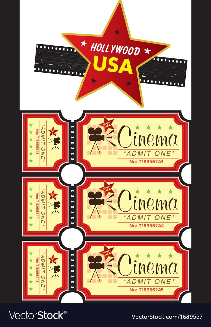 Cinema tickets vector image