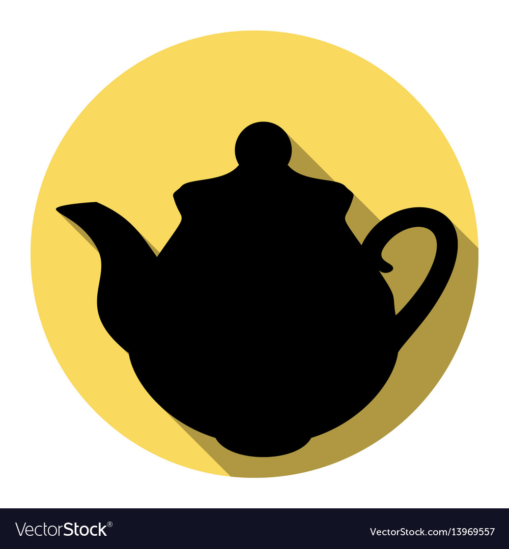 Tea maker kitchen sign flat black icon vector image