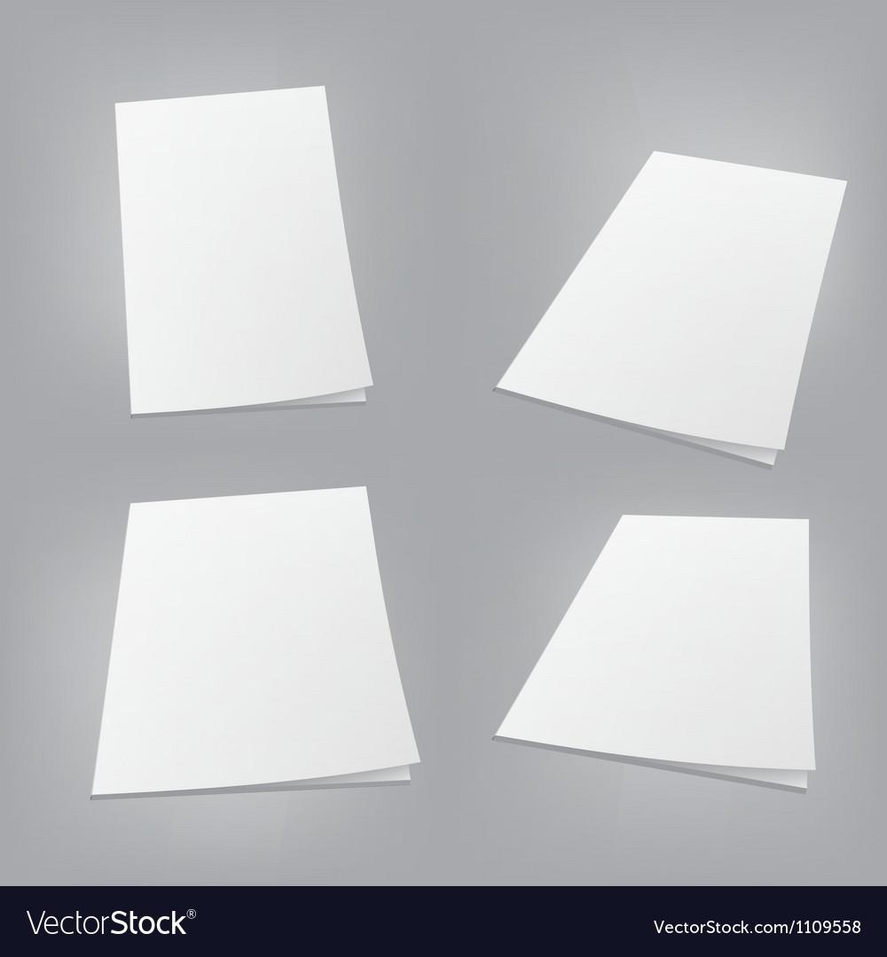 Empty white books vector image