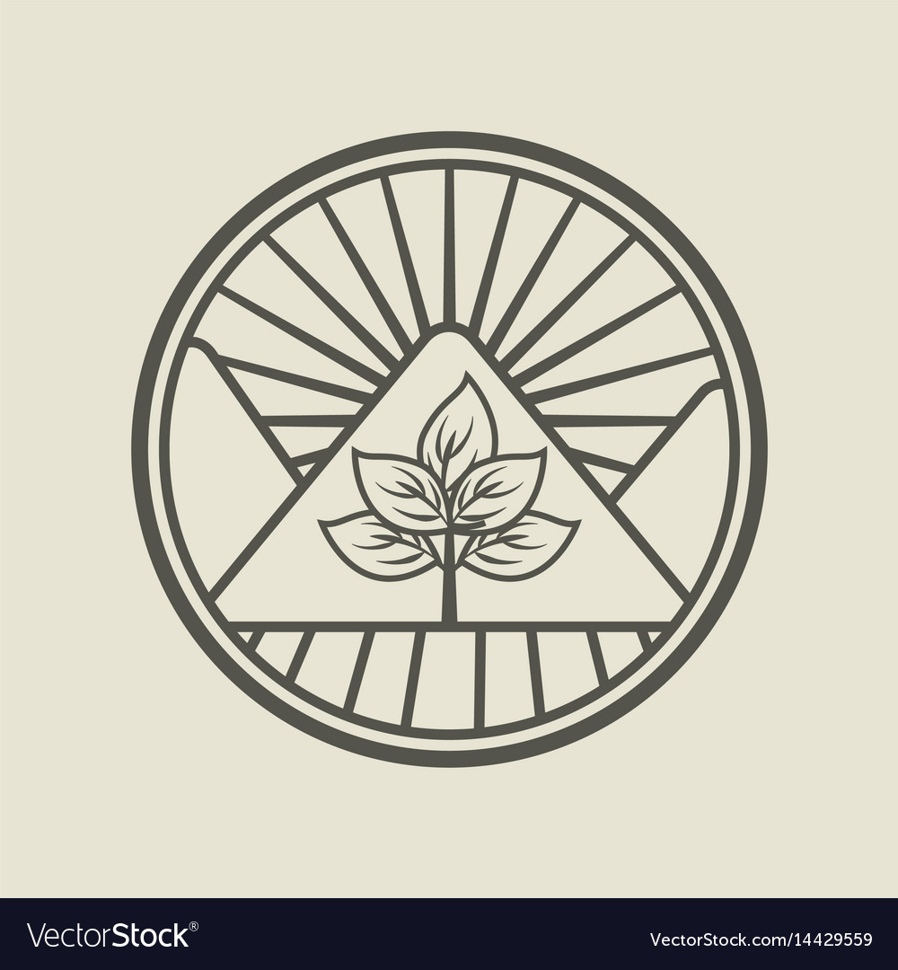 Agriculture production emblem icon vector image
