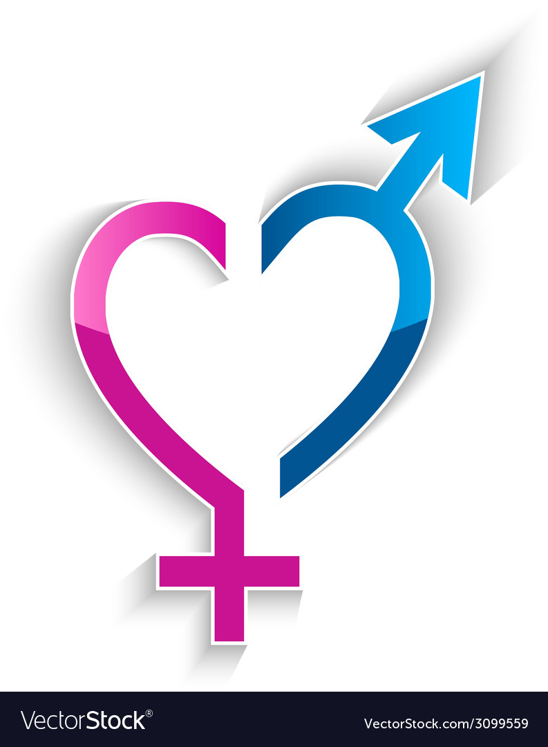 Male and female sex symbol heart shape concept vector image male and female sex symbol heart shape concept vector image buycottarizona
