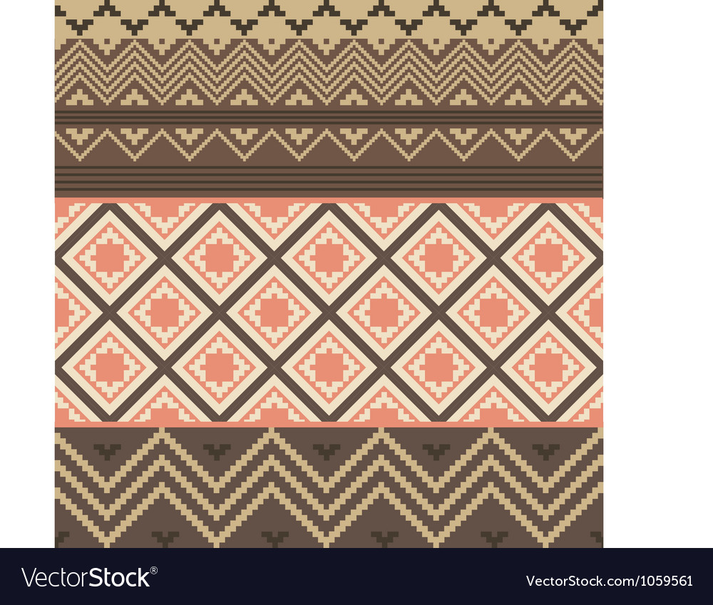 Colored ethnic texture vector image
