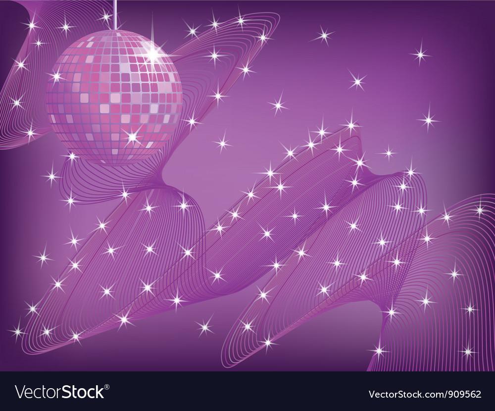 Disco background vector image