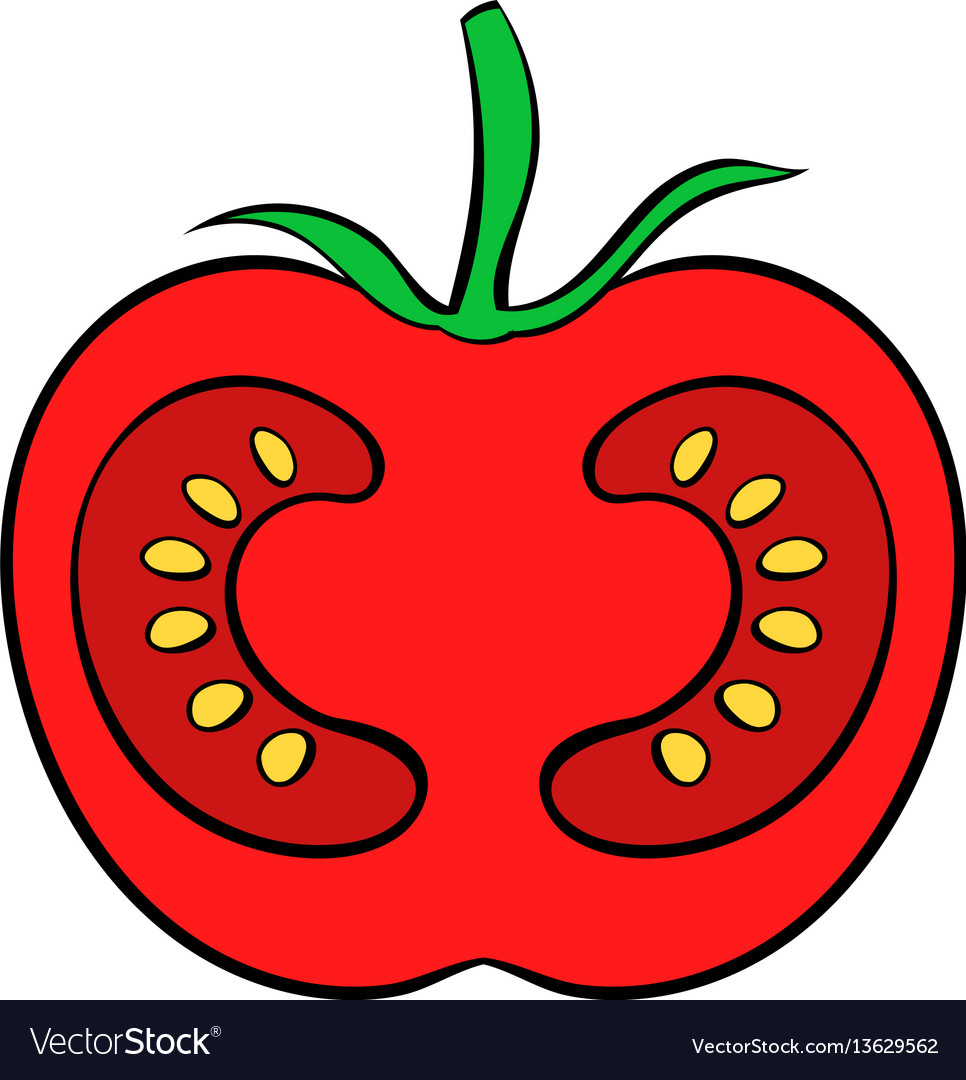 Red tomato icon cartoon vector image