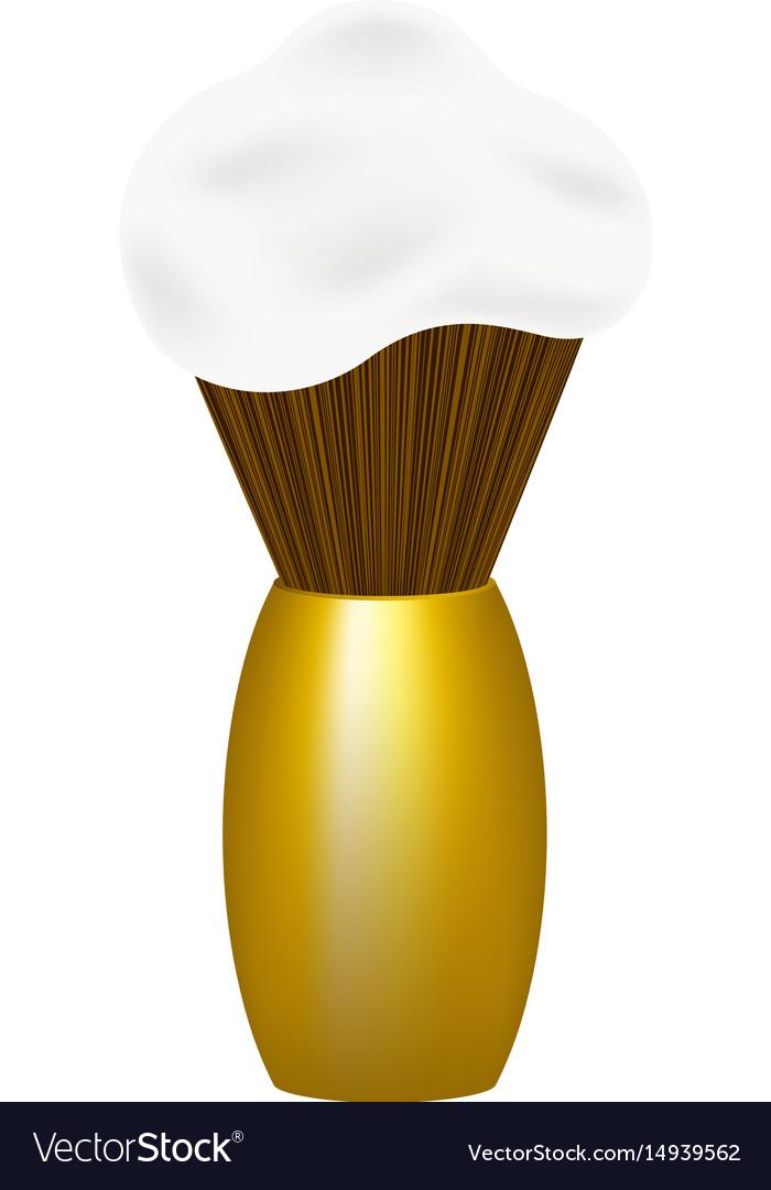 Shaving brush with foam vector image