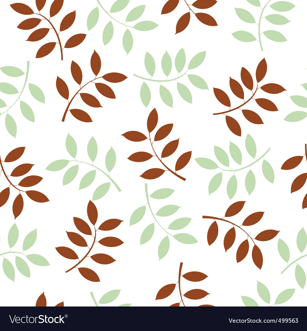 Leaf seamless background vector image