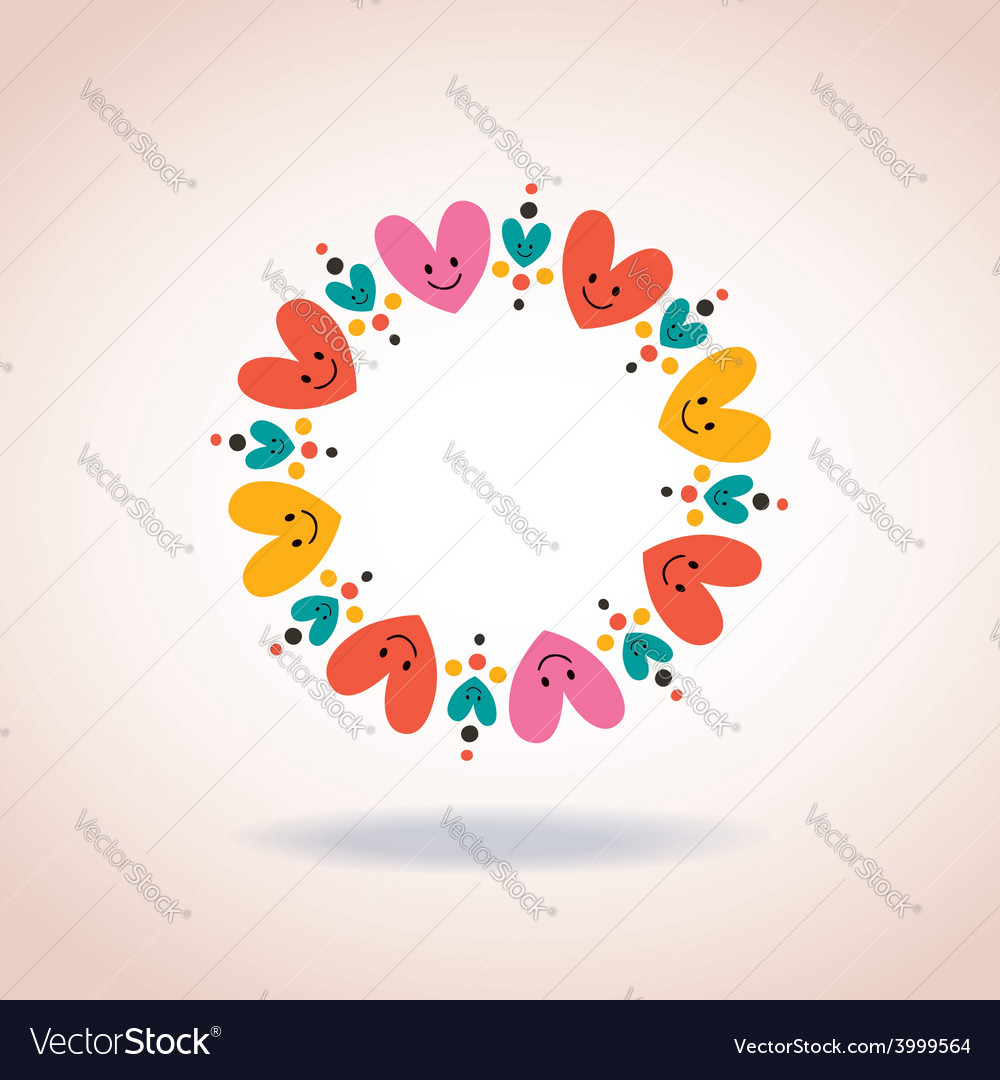 Cute hearts circle love symbol sign icon concept vector image cute hearts circle love symbol sign icon concept vector image buycottarizona