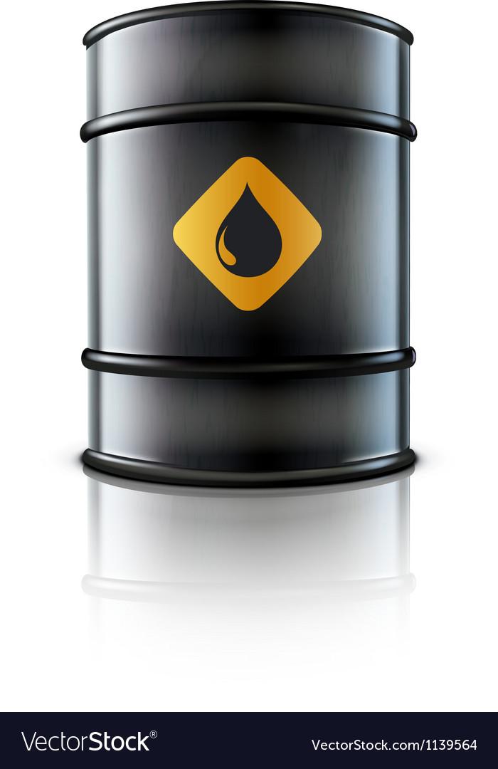 Metal oil barrel vector image