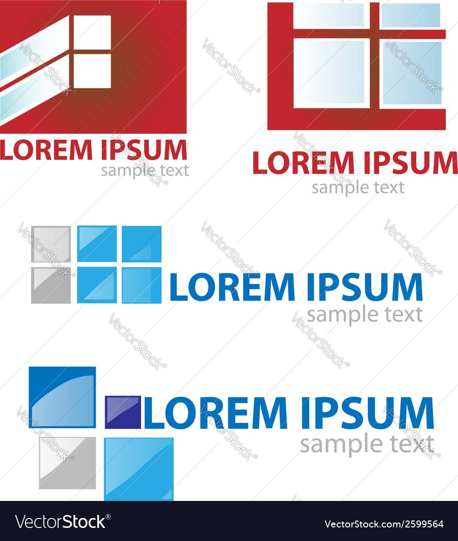 Window door symbol set vector image