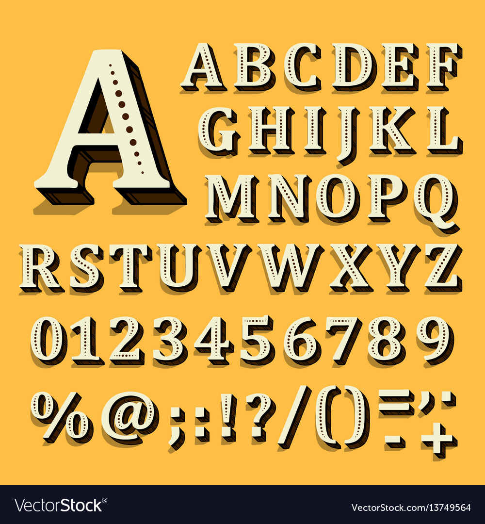 Yellow and white font on black background the vector image