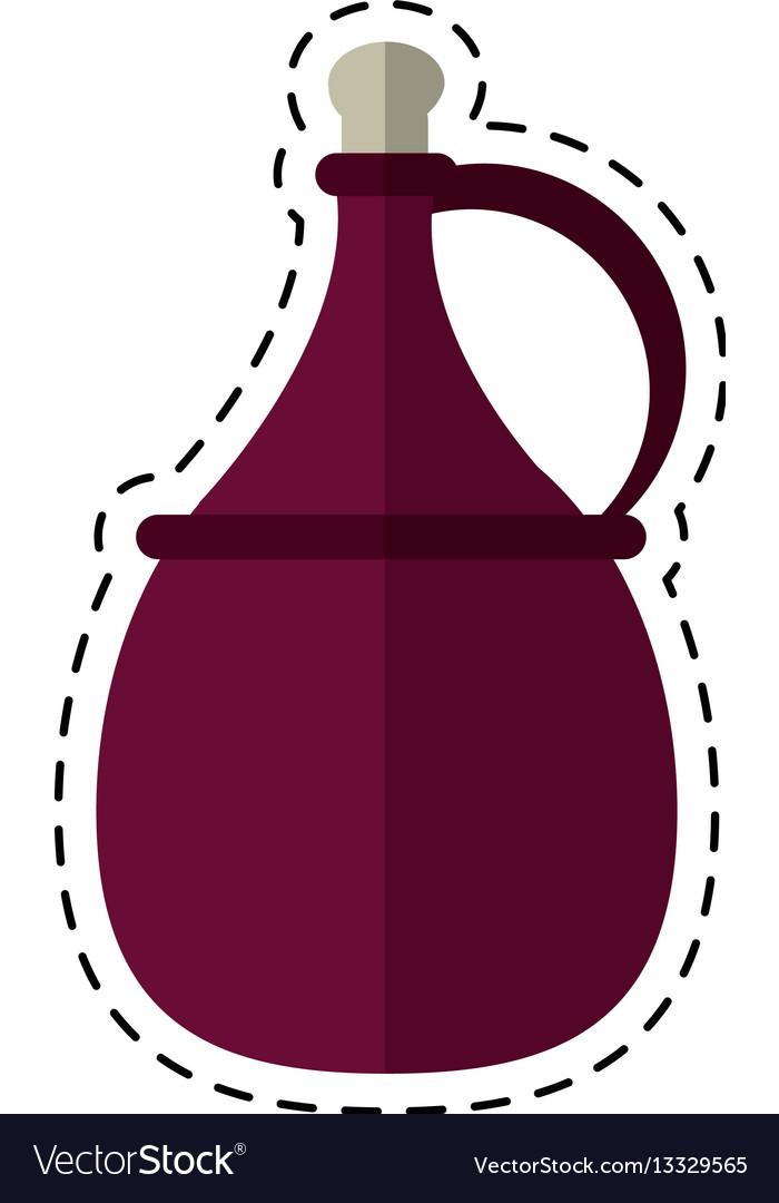 Cartoon wine carafe cork icon vector image