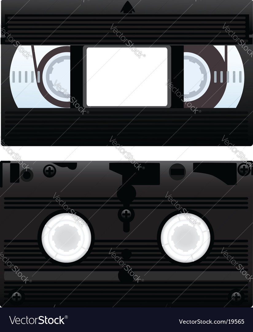 Video cassette vector image
