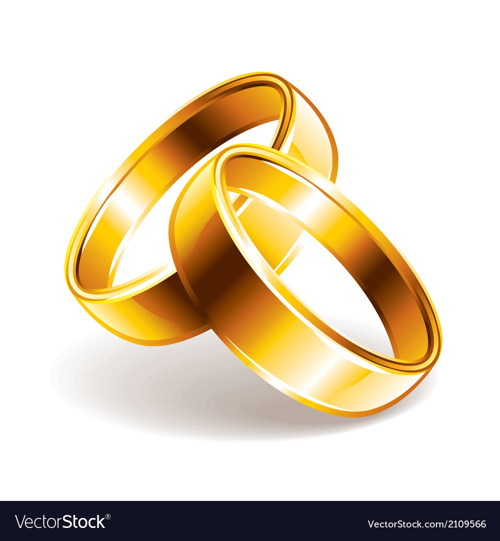 Wedding Rings Royalty Free Vector Image