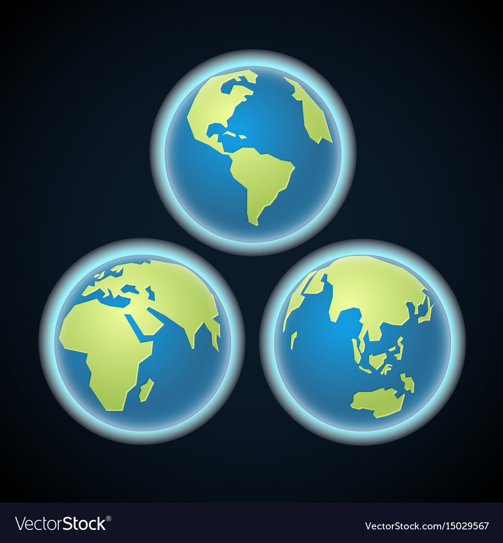 Different earth sides infographic template vector image