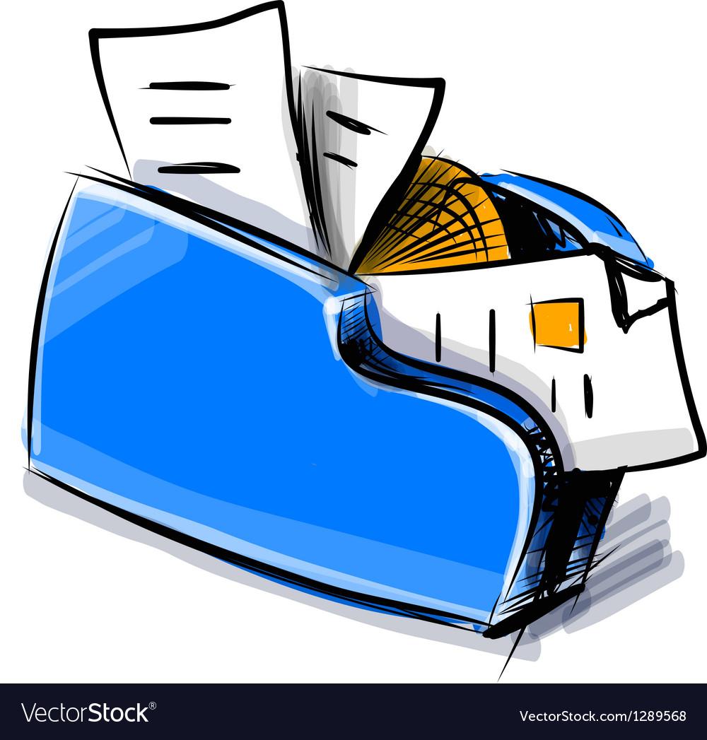 Folder icon cartoon vector image