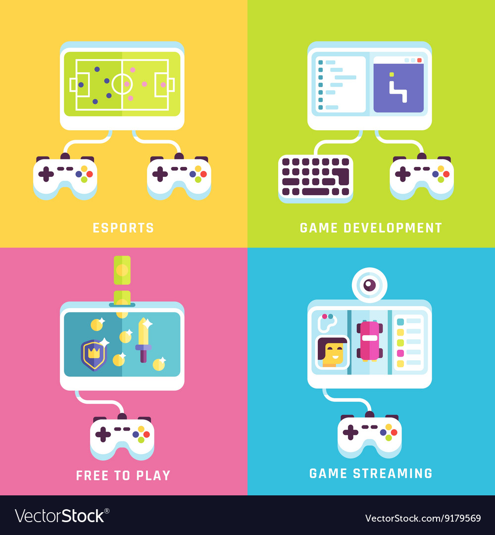 Game related concepts vector image
