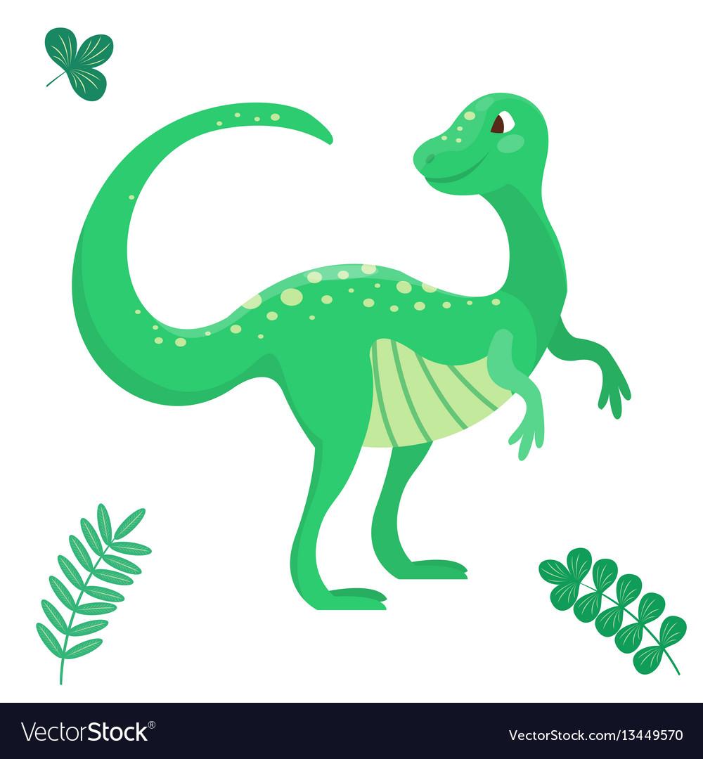 Cartoon dinosaur seamless vector image