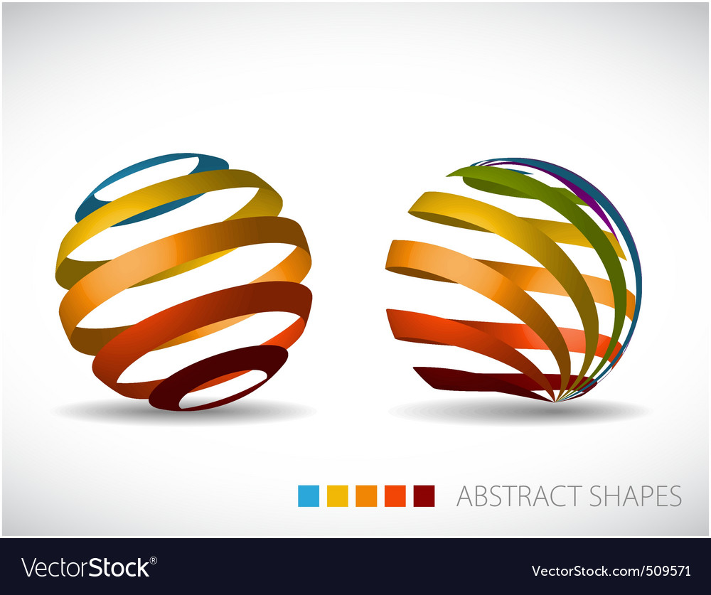 Collection of abstract spheres vector image