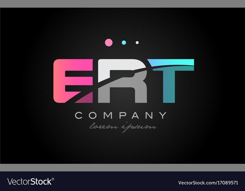 Ert e r t three letter logo icon design vector image
