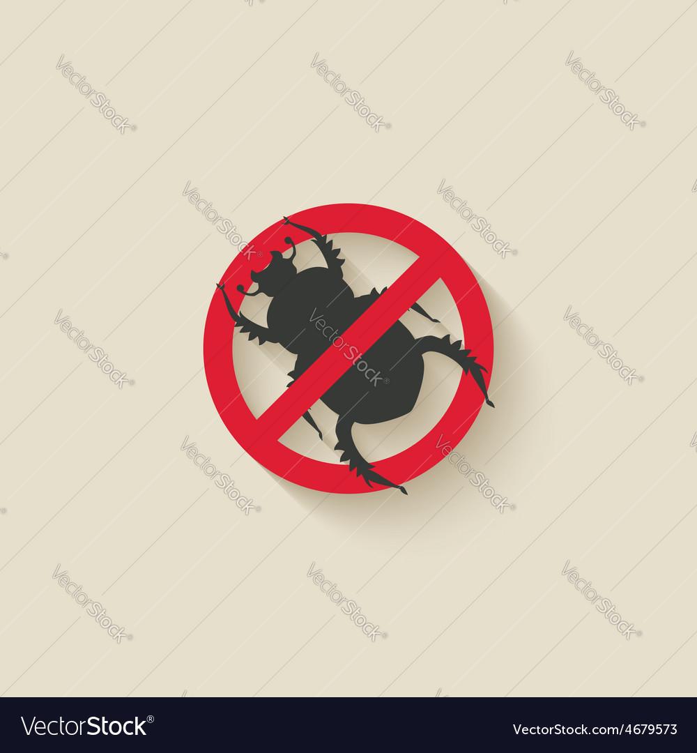 Beetle warning sign vector image