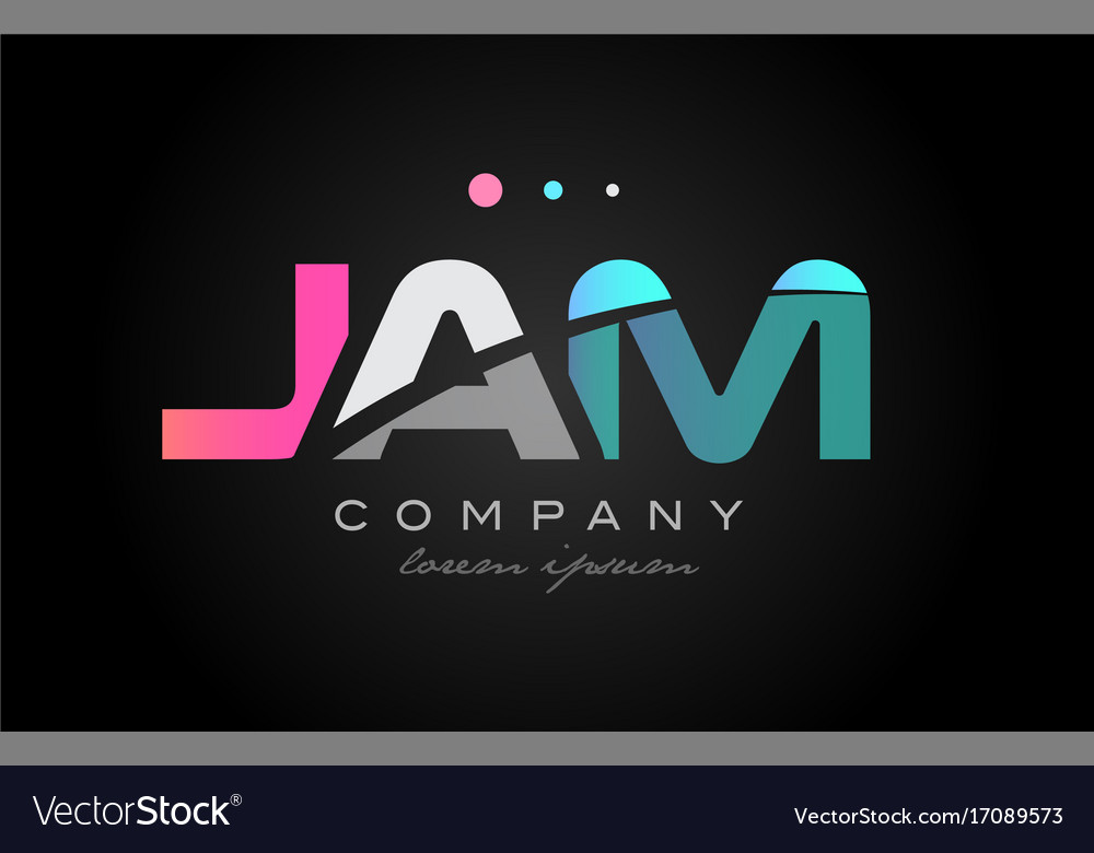 Jam j a m three letter logo icon design Royalty Free Vector