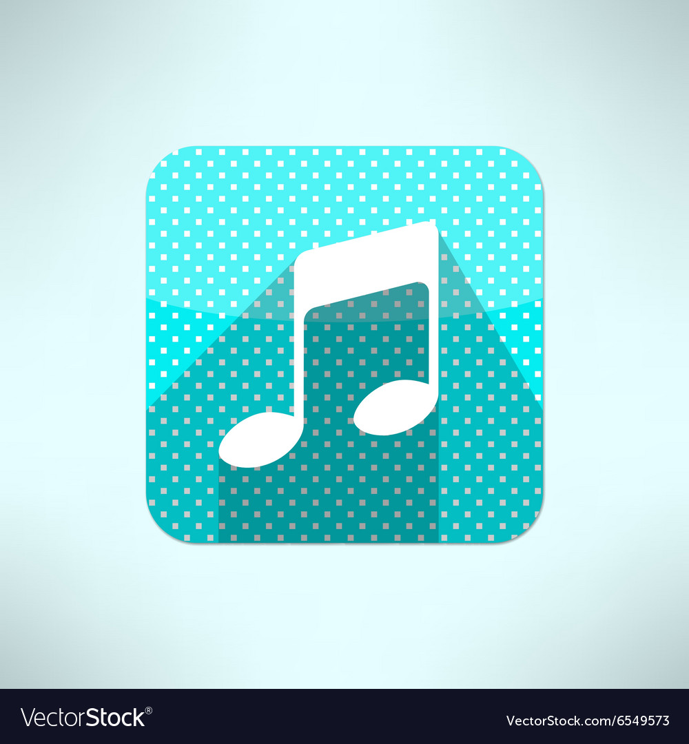 Music note icon in modern flat design on a vector image