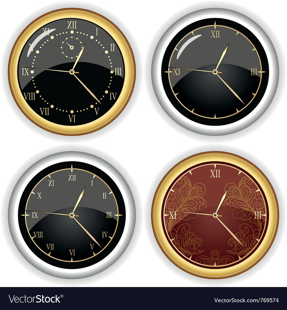 Set of clock designs vector image
