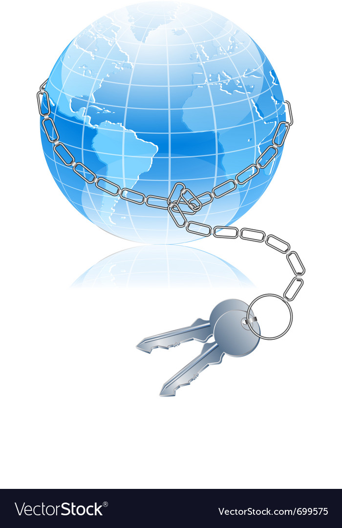 World and key Vector Image